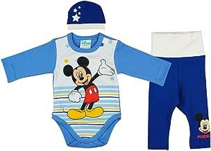 Disney Baby Spieler f/ür Junge mit Mickey Mouse Einteiler Kurze Strampler in Gr/ö/ße 56 62 68 74 80 86 100/% Baumwolle ideal f/ür Sommer Poloshirt