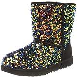 UGG T Classic Ii Stellar Sequin Boot, Black, Size 12