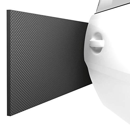 ATHLON TOOLS 2x FlexProtect Garagen-Wandschutz, Schwer Entflammbar, je 2 m lang, Extra Dicker Auto-Türkantenschutz, Selbstklebend, Wasserabweisend (Schwarz)