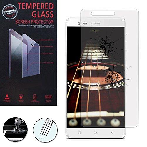 ANNART - Protector de pantalla de cristal templado para Lenovo K5 Note/Vibe K5 Note Pro – Transparente