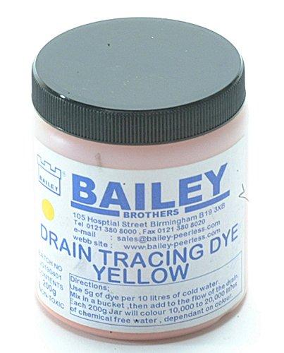 Bailey 3591 - Drain Tracing Dye per localizzare la direzione del flusso dell'acqua nelle tubature, colore: Giallo