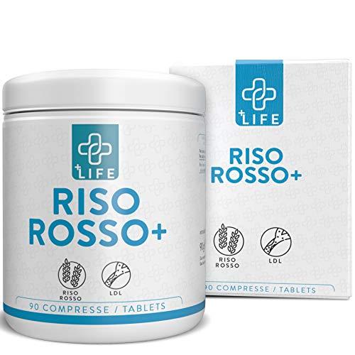 PiuLife® Riso Rosso+ ● 90 Compresse da 667 mg di riso rosso fermentato con manacolina K ● Normalizzazione dei livelli di LDL, integratore alimentare bioattivo di Lievito di riso rosso
