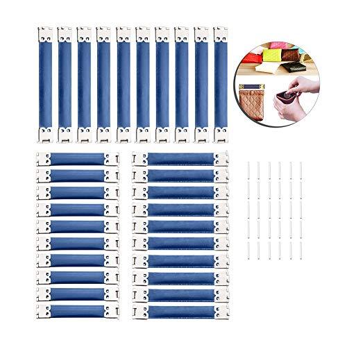 Supreme glory zakframe ~ zakbeugel ~ sluiting DIY voor handtassen portemonnee om in te naaien met clipsluiting Set 30 stuks Art 1
