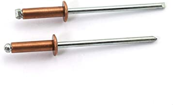 "1//16/"" dia copper rivets 1//2/"" Long QTY 100 Round Head"