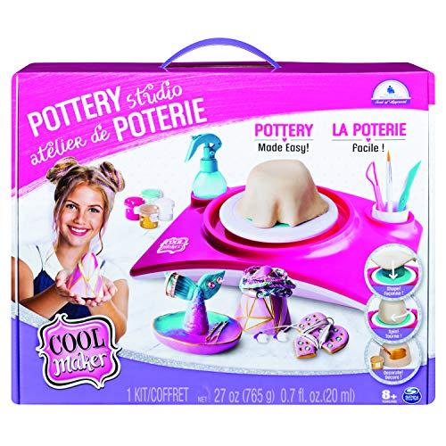 Cool Maker- Pottery Cool Studio, Kit di Lavorazione con Ruota per Ceramica per Bambini dai 6 Anni in su (L'Edizione Potrebbe Variare), Multicolore, 6027865