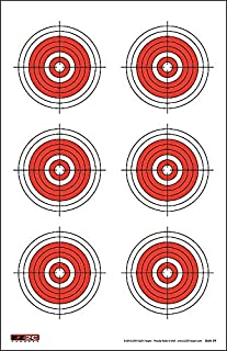 25, 50, 75 Yard Rifle Targets (25 Pack) by EZ2C | Long Range Shooting Paper Targets (100 yd) | Bullseye Target Style | High Visibility Firearms, Pistol, Airsoft and BB Gun Rifles Targets 11