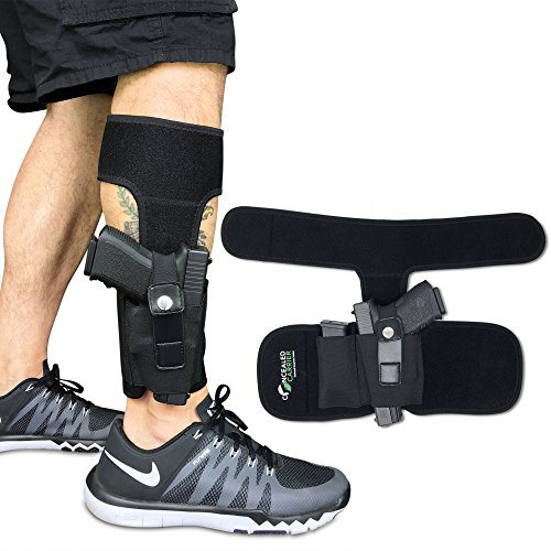 Concealed Carrier (TM Ankle Holster for Concealed Carry Pistol | Universal Leg Carry Gun Holster...