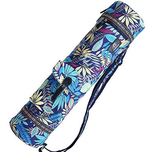 BAGTECH Bolsa para esterilla de yoga, impermeable, 70 cm, para esterilla de yoga, con varios bolsillos de almacenamiento, color azul