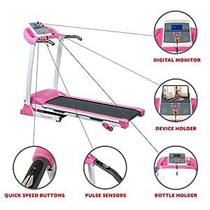 Sunny Health & Fitness P8700 Pink Treadmill