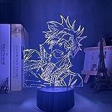 Lámpara De Ilusión 3D Manga De Luz De Noche Led D Para Decoración De Dormitorio Noche Colorida Regalo De Anime Lable Lavi