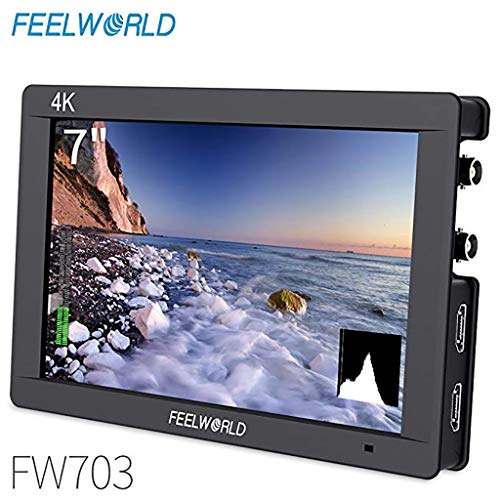 Sixcup FEELWORLD FW703 7 Zoll IPS 3G SDI 4K HDMI DSLR Monitor Full HD Auf Kamera Feldmonitor für Stabilisator Kameras Rig (Black)