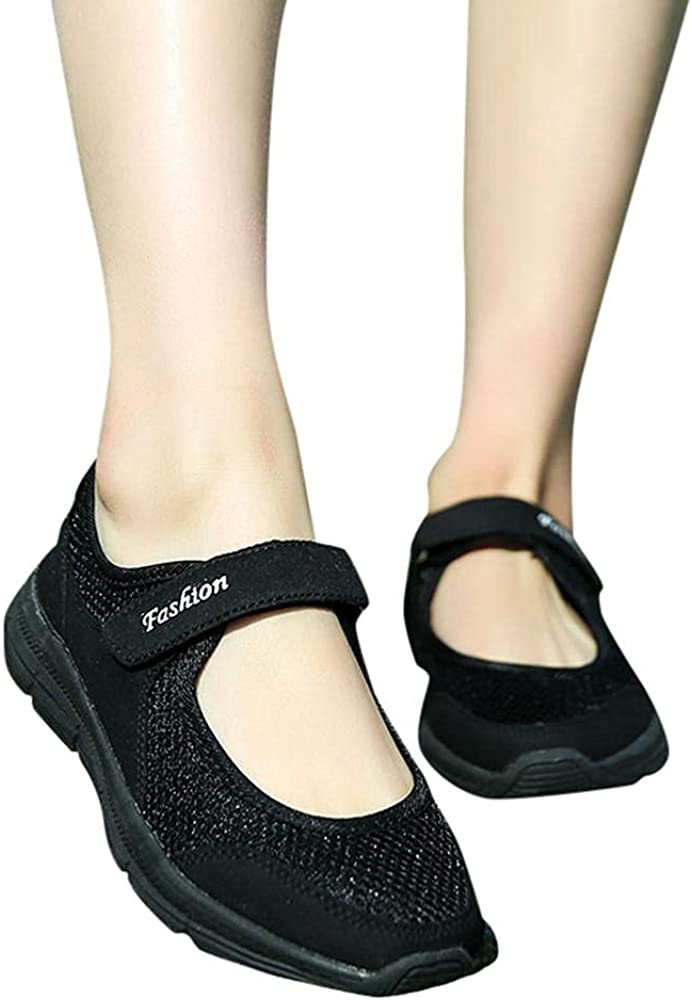 Aunimeifly Women's Lightweight Walking O New color Slip-on Wedges Cheap mail order shopping Sneakers