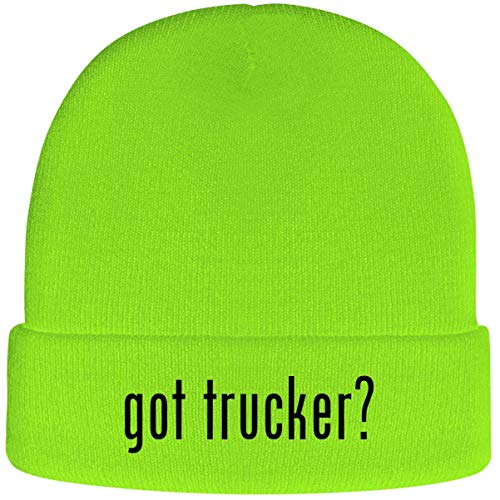 One Legging it Around got Trucker? - Soft Adult Beanie Cap, Neon Green
