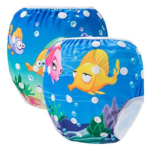 Storeofbaby Swimwear riutilizzabile riutilizzabile di nuoto del pannolino per lezioni di nuoto unisex del bambino 0-3 anni
