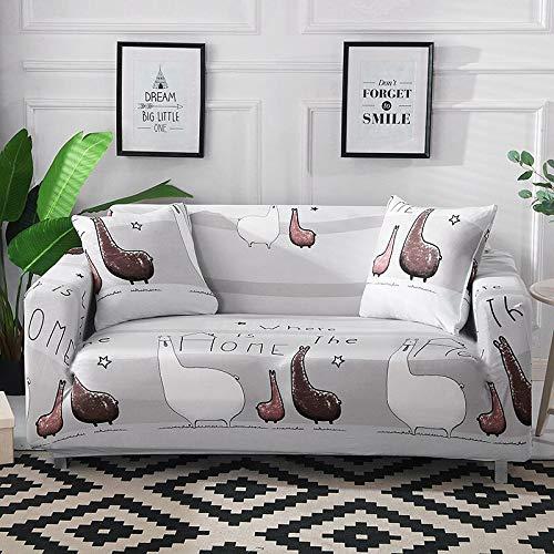 WXQY Funda de sofá elástica con Estampado Floral de Hojas para Sala de Estar, Protector de sofá, Funda de sillón, Funda de sofá de decoración del hogar A30 de 3 plazas