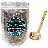 Missouri Meerschaum Pipe & NicoNone Herbal Smoking Blend 1oz Refill Bag (Soothe Canyon)