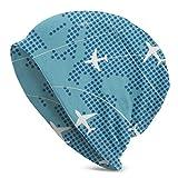 Mapa de Vuelo de Europa Sombrero de Punto para Adultos Gorro de Calavera de Esqui Calido Gorro de Gorro