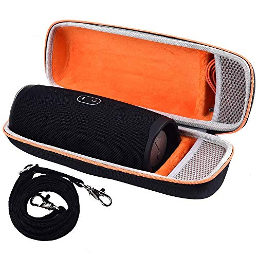 Hard Travel Case for JBL Charge 4/ JBL Pulse 4 Portable Waterproof Wireless Bluetooth Speaker, Fits USB Cable with Strap