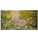 Famosa pintura medieval Lirio de agua Monet Francia Cuadro colgante Póster Impresión en lienzo Pintura Arte de la pared Decoración de la sala de estar-50x70 cm x1 Sin marco