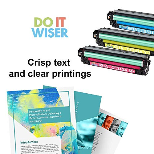 Do it Wiser Compatible Toner Cartridge Replacement for HP 651A CE342A for use in HP Laserjet Enterprise 700 MFP M775 M775dn (Yellow) Photo #4