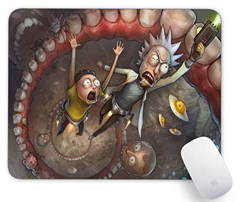 Mouse Pad Rick and Morty Comics Gaming Funny Customized Cute Rubber Mousepad Laptop MouseMat for Desk