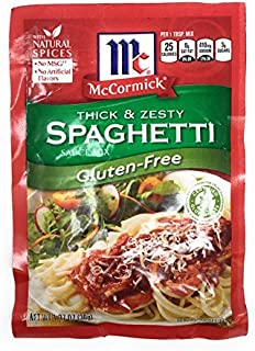 Mccormick Gluten Free Thick and Zesty Spaghetti Sauce Mix 1.37oz Packet (Pack of 3)