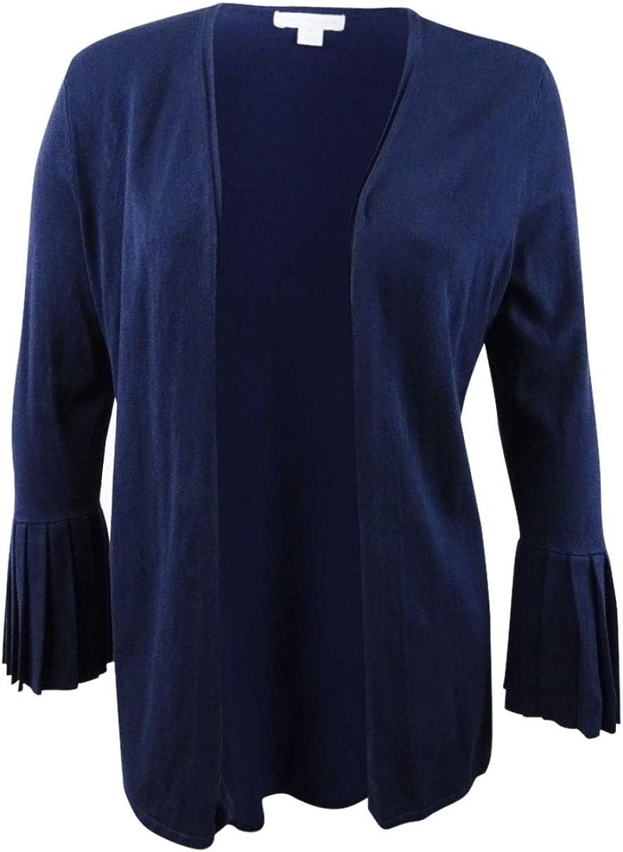 Charter Club Women's Plus Size Pleated-Sleeve Cardigan