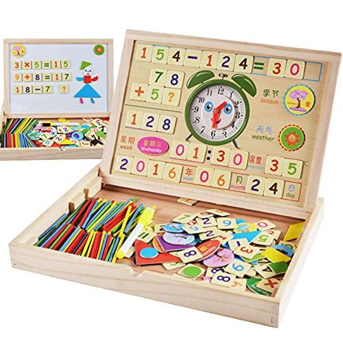 N\C Casetes de Aprendizaje aritmético con Palos Digitales Juguetes educativos de educación temprana para niños de Madera ortografía magnética ayudas para la enseñanza de Las Ciencias