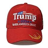 Bestmaple Make America Great Again Hat, 2024Trump Gorra de béisbol de algodón MAGA (rojo - Keep)