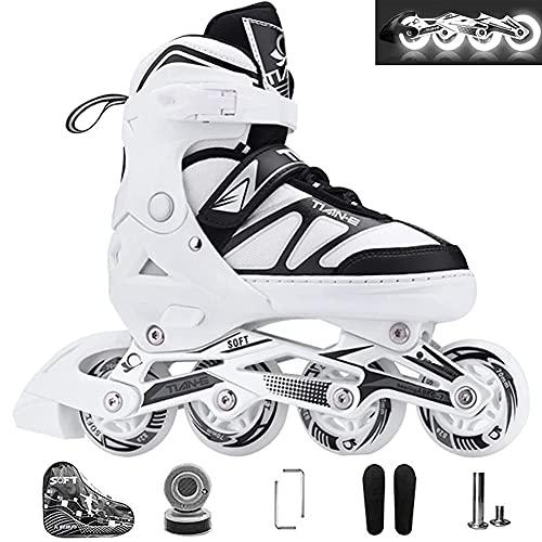 XIUWOUG Inline Skates Für Kinder, Vorderrad LED...