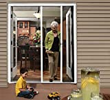 Cool Genius Retractable Screen Door for Double Door (Standard {Width (68' to 72') x Height 80', White)