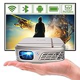 ミニプロジェクター 超小型 自動補正 充電 軽量 Wifi Bluetooth 無線 スマホ iphone ipad対応 android搭載 モバイルプロジェクター バッテリー内蔵 ワイヤレス 家庭用 ブルートゥース hdmi usb接続 映画用 projector