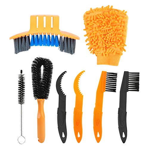 awstroe Cleaning Brush, Tidy, Bike Cleaning Brush, Resin, Yellow, Convenient, for Bicycle Cleaning Bicycle Maintenance