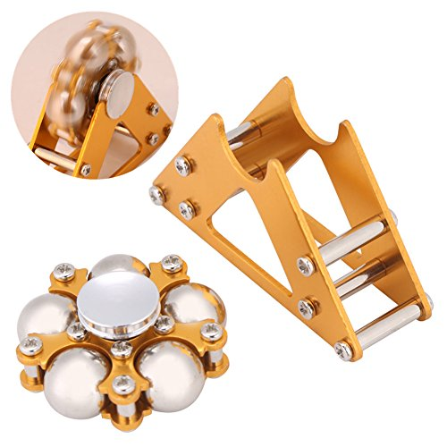 Juguete de giroscopio, aleación de Aluminio Amarillo Gyro de la Rueda con Juguete de descompresión de trípode Decoración de Escritorio Regalo para los niños Adultr