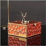 Cenicero portátil con tapa cuerpo resina cubierta-bambú+metal hogar sala decoración cigarrillo cenicero cenicero naranja