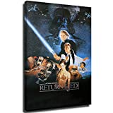 Star Wars Return of The Jedi Poster Framed Wall Art Canvas Prints for Home Decorations 1 Panel with Frames 12x16 inch