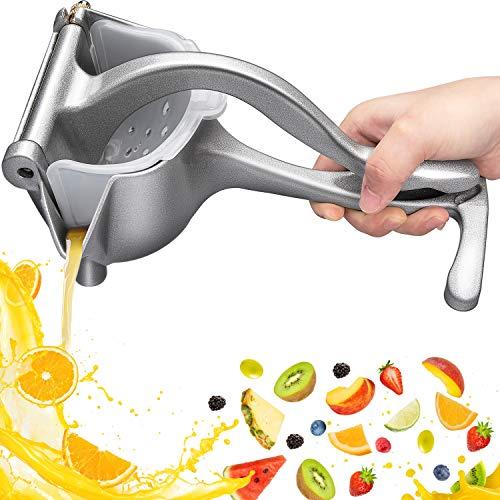 Handfruchtpresse Manueller Entsafter Aluminiumlegierung, Automoness Manuelle Handfruchtpresse Zitrone Orangenpresse Presse Entsafter