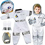 Children's Astronaut Space Costume Space Pretend Dress Up Role Play Set for Kids Cosplay Ages 4-7
