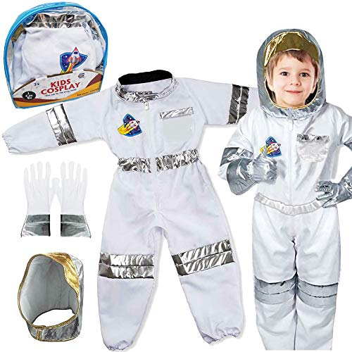 Children's Astronaut Space Costume Space Pretend Dress Up Role Play...
