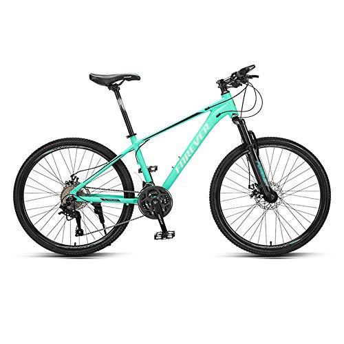 Bicicleta, Bicicleta de Montaña con 27 Velocidades   Bicicleta Todo Terreno de 26 Pulgadas, con Asiento Ajustable Y Marco de AleacióN de Aluminio, para Hombres O Mujeres/A / 167x96cm