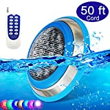 CNBRIGHTER LED Underwater Swimming Pool Lights,54W RGB Color Changing,...