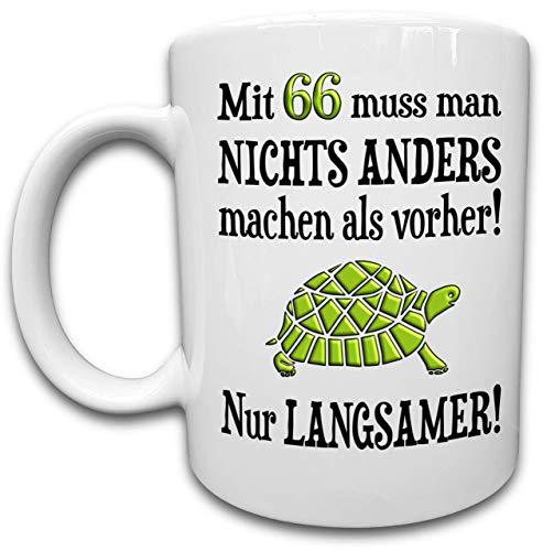 66 Geburtstag Tasse, 66. Geburtstag Geschenk Mann Frau - lustige Sprüche über das Alter, Geburtstagsgeschenk Lustig, 66 Jahre alt Spruch, Kaffeetasse