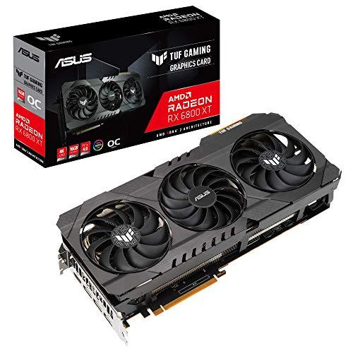 ASUS TUF Gaming AMD Radeon RX 6800 XT 16G OC Edition Grafikkarte (PCIe 4.0, 16GB GDDR6 Speicher, HDMI 2.1, DisplayPort 1.4a, GPU Tweak II, TUF-RX6800XT-O16G-GAMING)
