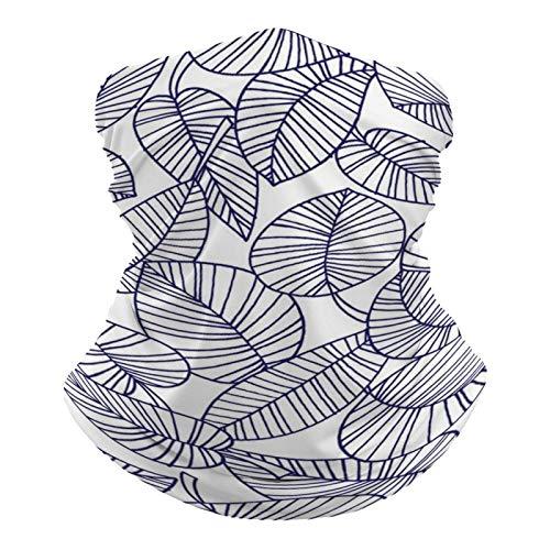 Pañuelo multifuncional unisex con patrón de bandana, elástico, transpirable, deportivo, con resistencia a los rayos UV, diseño botánico monocromático