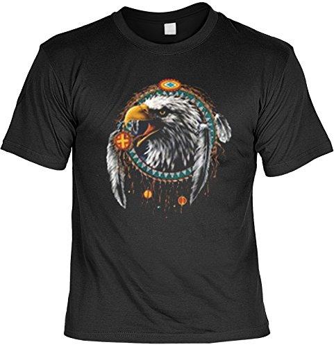 Indianer T-Shirt Dreamcatcher Adler Eagle Wild West T-Shirt Spirit Western American Free Spirit Amerika