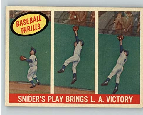 Max 43% OFF 1959 Topps #468 Duke Snider Ranking TOP1 IA Kit EX-MT Young 395554 Ca Dodgers