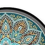 Mnsruu Boho Mandala türkis rund Bereich Teppich für Wohnzimmer Schlafzimmer 3' Durchmesser (92 cm) - 2