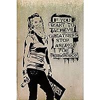 感動的な言葉動機付けのフレーズ壁アートポスターHdプリント写真キャンバス絵画リビングルームの写真家の装飾-50x75CM フレームレス