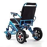 LRJ Fauteuil Roulant électrique à télécommande, Fauteuil Roulant électrique à Double Moteur Pliable léger pour Les Adultes Smart Chair Fauteuil Roulant de Scooter de Chaise