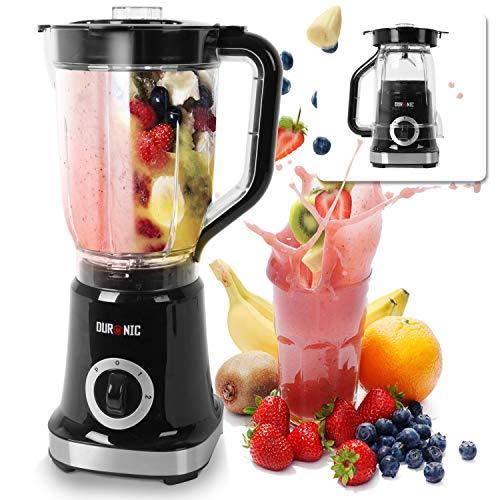 Duronic BL5 Batidora de vaso 500W – Función pulso y 2 velocidades - Jarra de 1.8L sin BPA - Cuchillas desmontables – Ideal para hacer smoothies, batidos, salsas, picar hielo, gazpacho